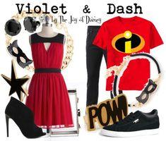 Disneybound - Incredibles - Violet & Dash Princess Inspired Outfits, Disney Themed Outfits, Disney Inspired Fashion, Cruise Outfits, Disney Dresses, Disney Fashion, Disney Clothes, Casual Cosplay, Cosplay Outfits