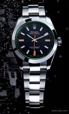 the rolex milgauss gv (40 mm, black dial with orange and white markers, green sapphire crystal) - resistant to a magnetic flux density of 1,000 gauss