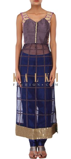 Buy Online from the link below. We ship worldwide (Free Shipping over US$100) http://www.kalkifashion.com/navy-blue-straight-suit-adorn-in-zari-embroidery-only-on-kalki.html