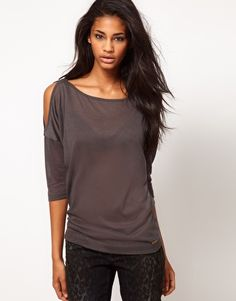 Miss Sixty Top With Exposed Shoulders