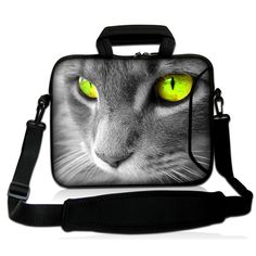 Personalized Cute Cat Face Design Fashion Handbags Laptop Pouch Cover 13.3 12.8 13 Inch Sleeve Messsenger Bags For Macbook Pro #Affiliate