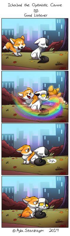 Ichabod the Optimistic Canine :: Good Listener   Tapastic Comics - image 1
