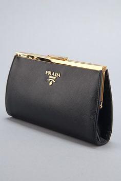 Rodeo Drive Resale - www.shopRDR.com - 100% Authentic Guaranteed - New Prada Black Saffiano Leather Clutch Bag
