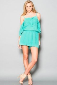 BohoPink - Fly Me To The Moon Off The Shoulder Embroidered Romper, $56.00 (http://www.bohopink.com/fly-me-to-the-moon-off-the-shoulder-embroidered-romper/)