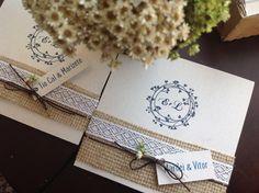 Convite de Casamento Faça Você Mesmo com Juta | Blog de Casamento DIY da Maria Fernanda