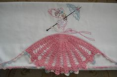 vintage embroidered pillowcases | VINTAGE-SOUTHERN-BELLE-HAND-EMBROIDERED-PILLOWCASES-CROCHET-FLOSS ...