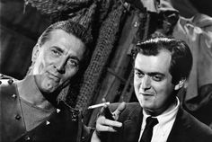 Kirk Douglas and Stanley Kubrick on the set of SPARTACUS