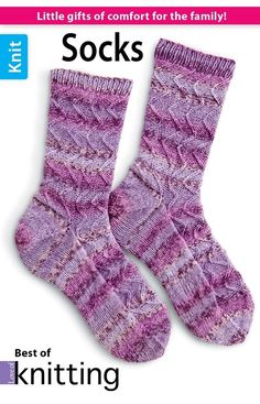 Love of Knitting Socks - Whether you are knitting them for yourself or a loved one, hand-knit socks are a special treat. From dress socks perfect for the office to bulky socks ideal for a lazy afternoon at home, we have selected a few of our favorite patterns to encourage your own love of sock knitting. Featuring 8 patterns for everyone in the family, this book will inspire you to grab your needles and a ball of luscious yarn and cast on for hours of knitting fun.