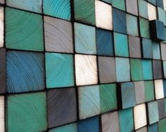 Modern Reclaimed Wood Art Wall Sculpture Abstract by WallWooden
