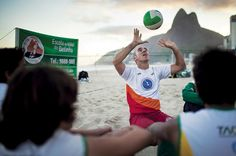 """Betinho had ridden what he calls a """"boom"""" of #volleyball in #Brazil. Although football (called soccer in the United States) was the prevailing national sport, volleyball had knocked out basketball as the second most popular. National volleyball idols emerged, and the sport was broadcast on major television channels."""