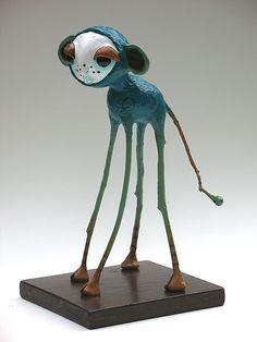 paper mache creature