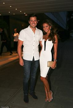 Al-Wright in white: Mark treats fiancée Michelle Keegan to dinner. as she has 'gritty' new acting role in the pipeline Celebrity Fashion Looks, Look Fashion, Celebrity Style, Celebrity Couples, Celebrity Photos, Couple Outfits, Casual Outfits, Michelle Keegan Style, Summer Wedding Outfits
