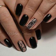 # gellak # fashion nails The best new nail polish colors and trends p Simple Nail Designs, Nail Art Designs, Nails Design, Nail Art Arabesque, New Nail Art, Super Nails, Blue Nails, Stiletto Nails, Winter Nails