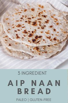 Paleo Naan (AIP, Gluten-free) - Rooted In Healing - This fluffy autoimmune paleo bread naan recipe is delicious, gluten-free, easy, great for sandwich - Paleo Autoinmune, Pan Paleo, Paleo Naan, Sin Gluten, Easy Crockpot Roast, Gluten Free Recipes, Diet Recipes, Paleo Lunch Recipes, Gluten Free Naan