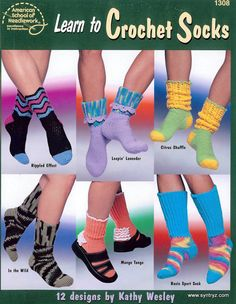 Learn to Crochet Socks by Syntryz on Etsy