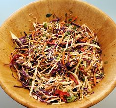 It's coleslaw season and this one is a winner!  http://oracibo.com/recipe/asian-coleslaw-with-peanut-dressing/