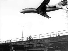 berlin, bahnhof tempelhof in the 1970s