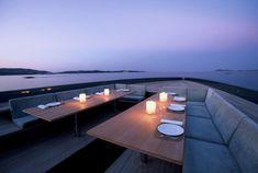 Wallypower 118 - luxury and fast yacht - dining al fresco
