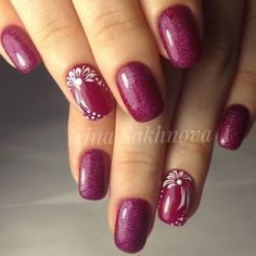 90 Vigorous Early Spring Nails Art Designs For This Season 2019 - 90 Vigoro. Fingernail Designs, Red Nail Designs, Spring Nail Art, Spring Nails, Fancy Nails, Pretty Nails, Plum Nails, Nagel Blog, Manicure E Pedicure