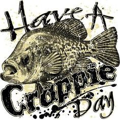 Have A Crappie Day t-shirt, tank top and hoodie.Funny Crappie fish t-shirt. Fishing Quotes, Fishing Humor, Fishing T Shirts, Gone Fishing, Fishing Tips, Fishing Stuff, Fishing Tackle, North Carolina, Crappy Day
