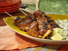 Grilled Tandoori-Style Lamb Skewers from FoodNetwork.com