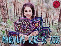 Mandalas Ojos de Dios Eye Mandala, Mandala Yarn, Paper Weaving, Weaving Textiles, Mexican Crafts, Mexican Folk Art, Spanish Art, Gods Eye, Circle Art