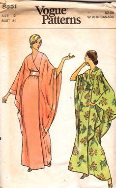 Kimono style robe sewing pattern