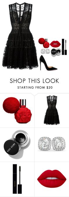 """""""You're my true love"""" by arianabut1993 on Polyvore featuring moda, Elie Saab, Allurez, Gucci, Lime Crime y Christian Louboutin"""