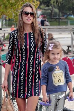 Spotted Hot Mom Alessandra Ambrosio in Los Angeles (Photos)