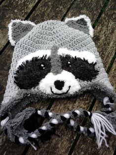 Looking for crocheting project inspiration? Check out Little Raccoon hat by member Mistybelle. #Crochethats