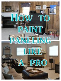 Postcards from the Ridge: Tutorial: How to Paint Paneling Like a Pro just in case we det one of those houses in texas Home Improvement Projects, Home Projects, Outdoor Projects, Painting Wood Paneling, Painting Walls, Paneling Painted, Painted Wood, Hand Painted, Up House