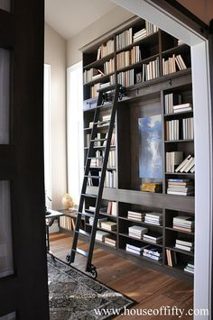 Isabella & Max Rooms: Street of Dreams Portland Style - House 1 // rolling ladder in master
