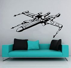 Ideal Wall Decals Star Wars Xwing X Wing Fighter Children Nursery Room Office Window Wall Vinyl