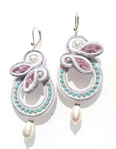 soutache -  earrings ;) Para mi mama