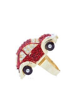Andrew Hamilton Crawford Herbie Ring In Red & Gold