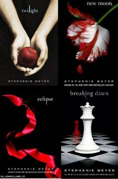 The Twilight Saga: Twilight, New Moon, Eclipse, and Breaking Dawn by Stephenie Meyer. Book Tv, Book Nerd, Book Series, The Book, Series Movies, Movie Film, Breaking Dawn, I Love Books, Good Books