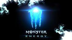 Monster Energy Blue Wallpaper