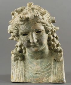 Hermaïc head depicting a young Bacchus - Bronze statue, from Roman period, century A. Roman Artifacts, Ancient Artifacts, Ancient Rome, Ancient History, Roman Sculpture, Lion Sculpture, Royal Families Of Europe, Art Rules, Greek And Roman Mythology
