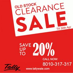 Tally stock clearance offer