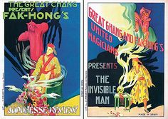 2 Original 1920s Spanish Magic Posters Chang Fak Hong