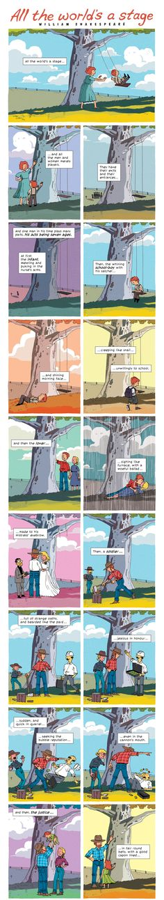 ZEN PENCILS » 175. SHAKESPEARE: All the world's a stage