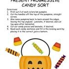 Halloween Candy Is/Are/Am Sentence Sort