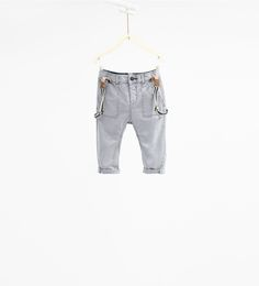 Twill trousers with braces-TROUSERS-BABY BOY | 3 months-3 years-KIDS | ZARA United States