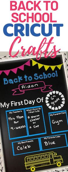 AD: Check out these easy DIY ideas for the first day of school using your Cricut Explore Air 2. A personalized chalkboard and an e-learning shirt using infusible ink. #CricutCreated School Routines, Great Conversation Starters, Great Hobbies, Cricut Tutorials, Back To School Shopping, School Photos, Fun Crafts For Kids, Homemade Beauty Products, My Teacher