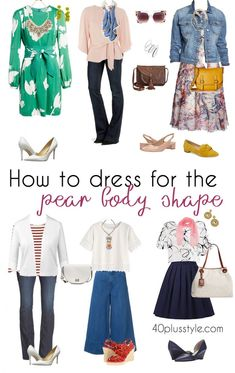 pear shaped body outfit ideas | 40plusstyle.com
