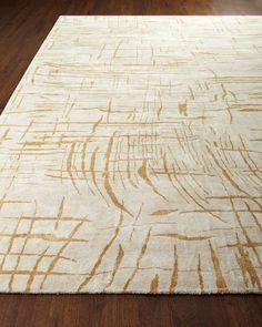 Bianco Rug, 10' x 13', Ivory/Tan Lines