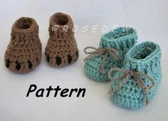 R0SEDEW on Etsy: Bear Claw Baby Booties