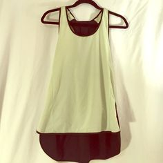 Lululemon Mint Green Running Top Keep you cool while during a run, yoga class or other cardio! Great loose fit and cute back. In EUC lululemon athletica Tops Tank Tops