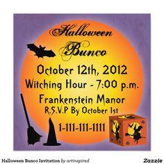 Halloween Bunco Invitation