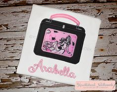 Maleficent Lunchbox Shirt with by KnuckleheadNeedlewrk on Etsy, $25.00